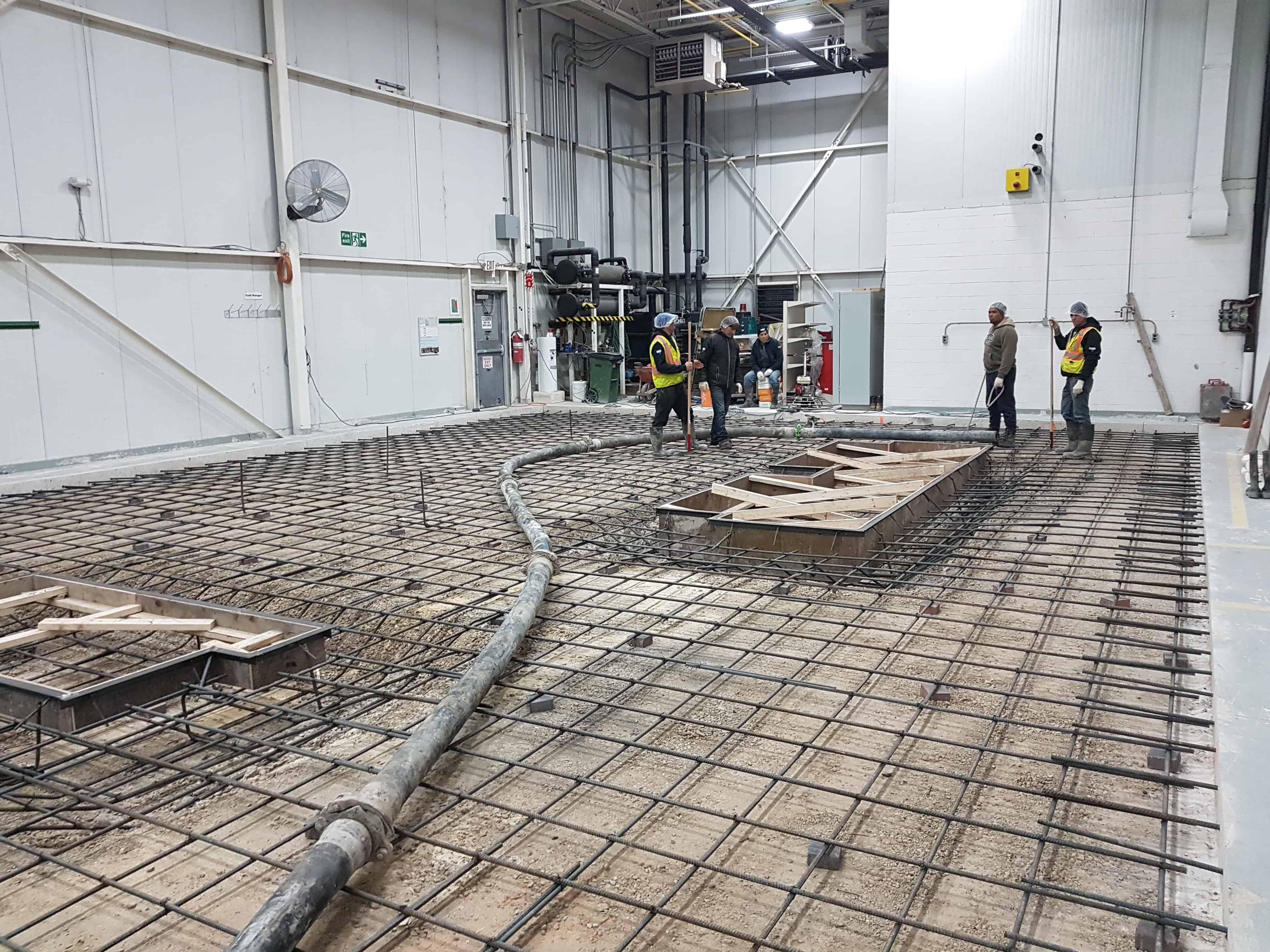 Montréal construction des bases en béton armé