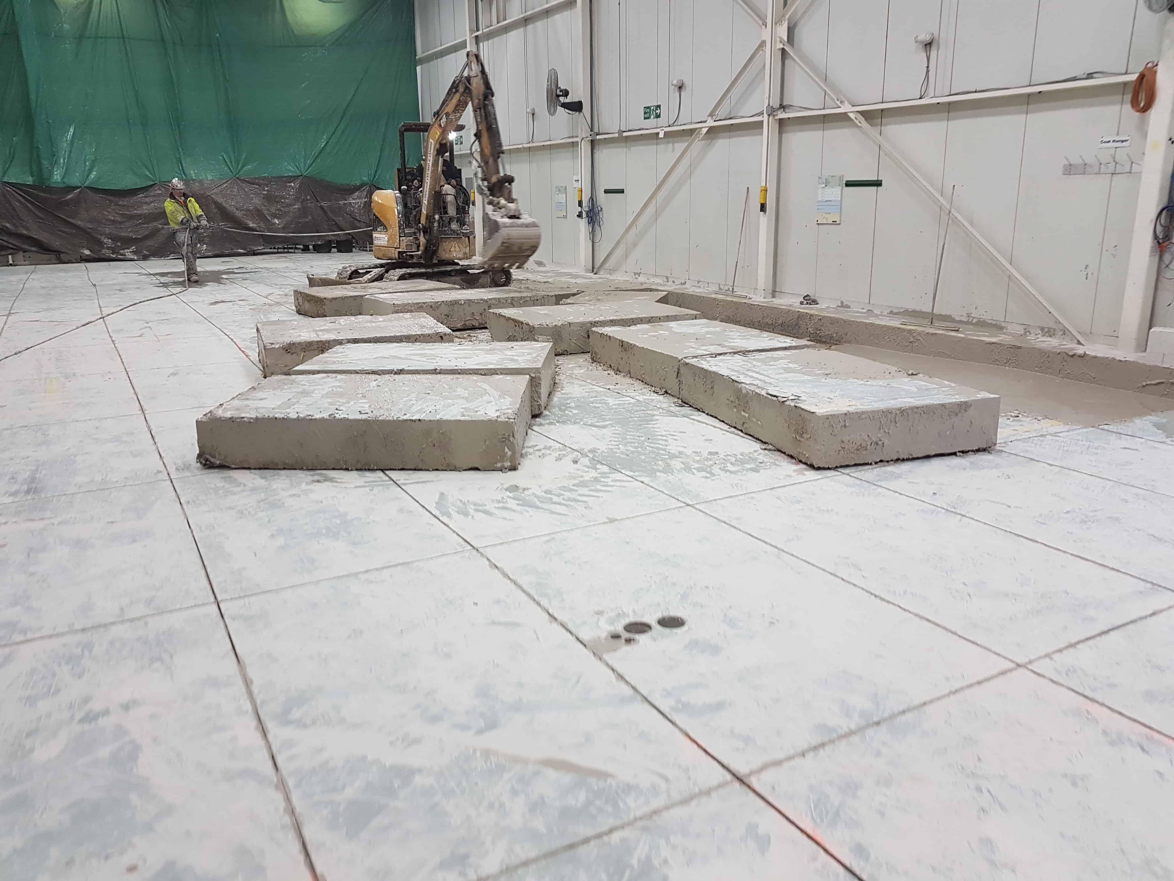 Montréal entreprise construction de fondation en béton pour machine