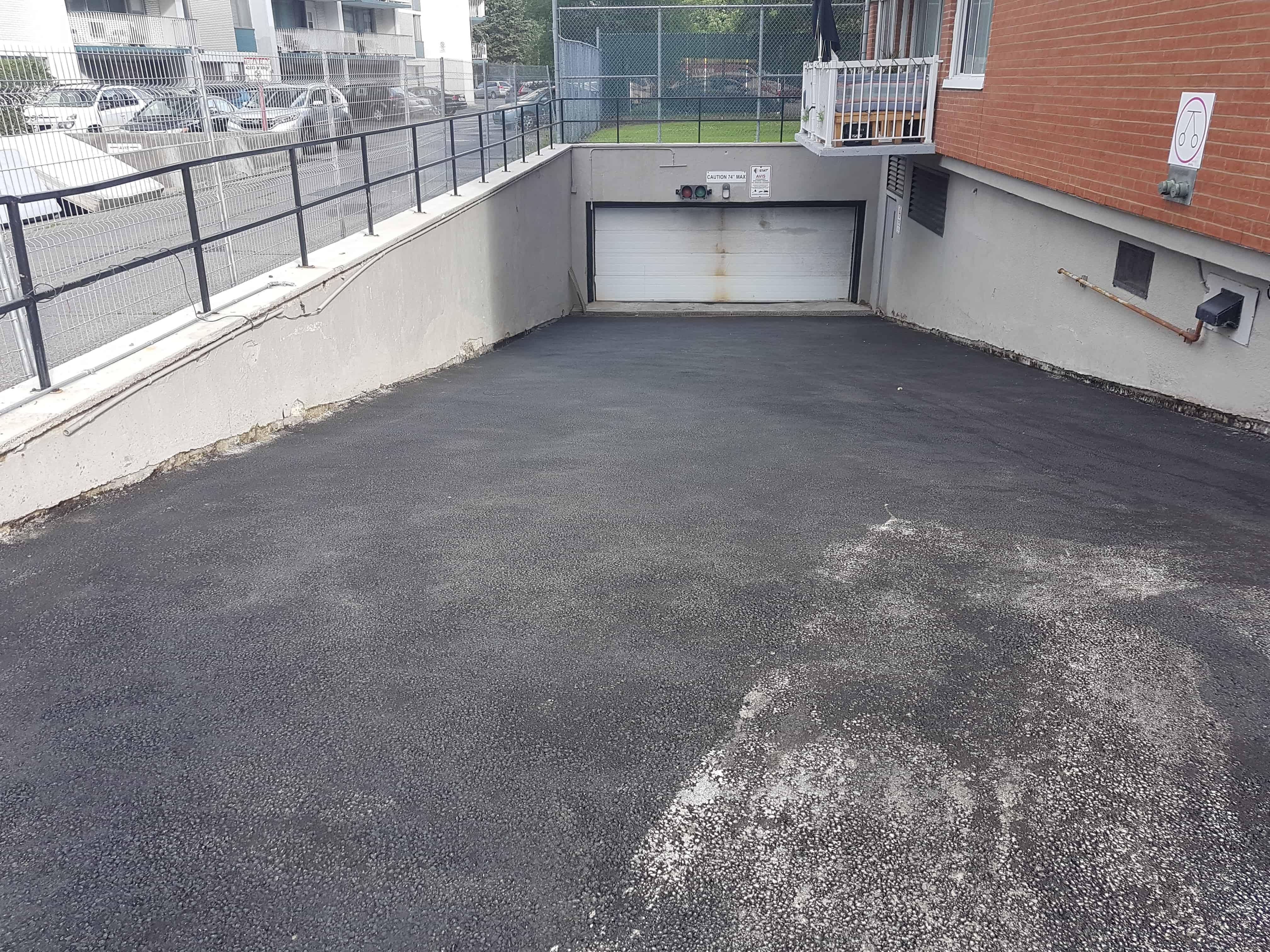Réfection de stationnement intérieur