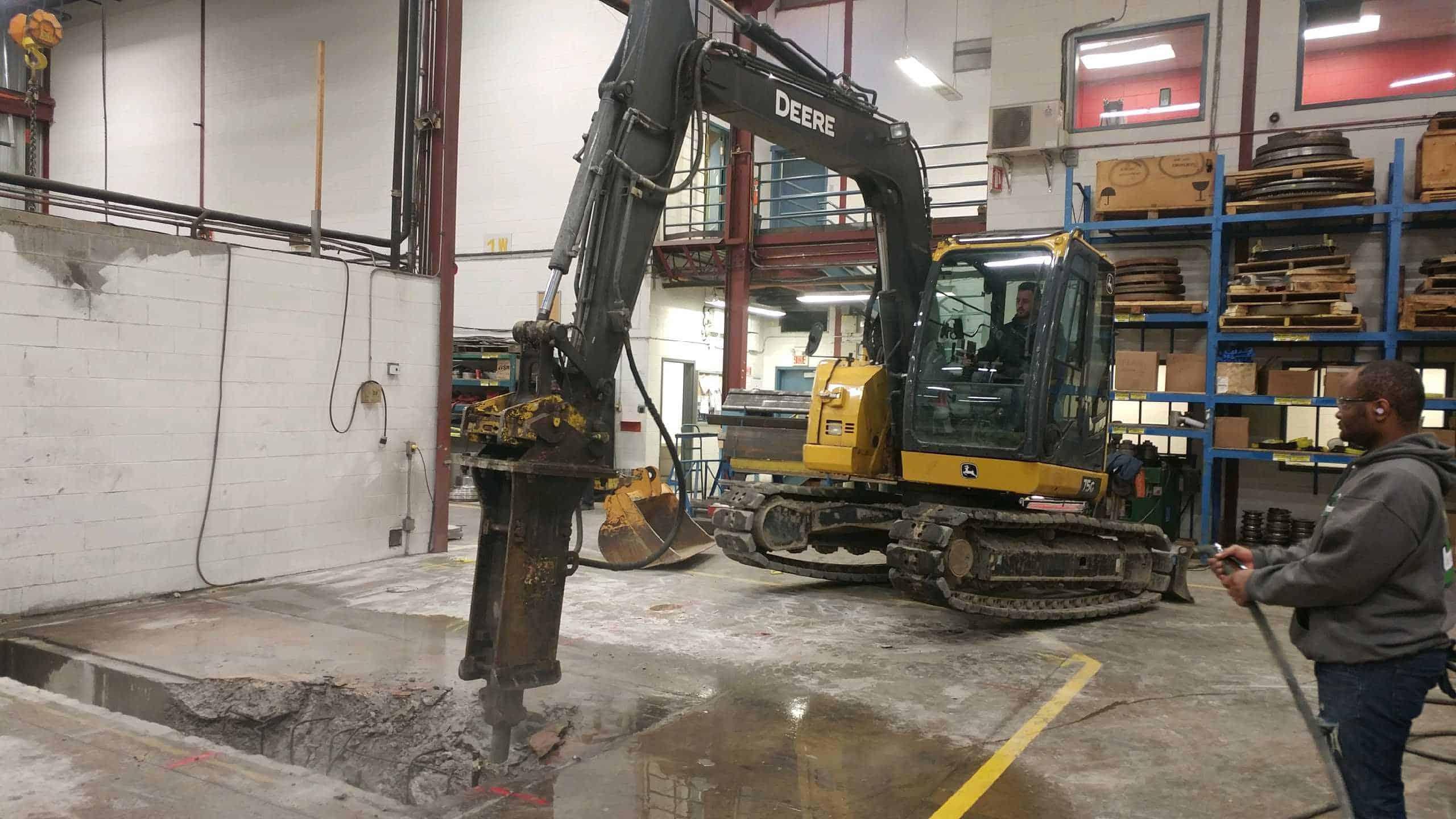 Montreal pyrite decontamination