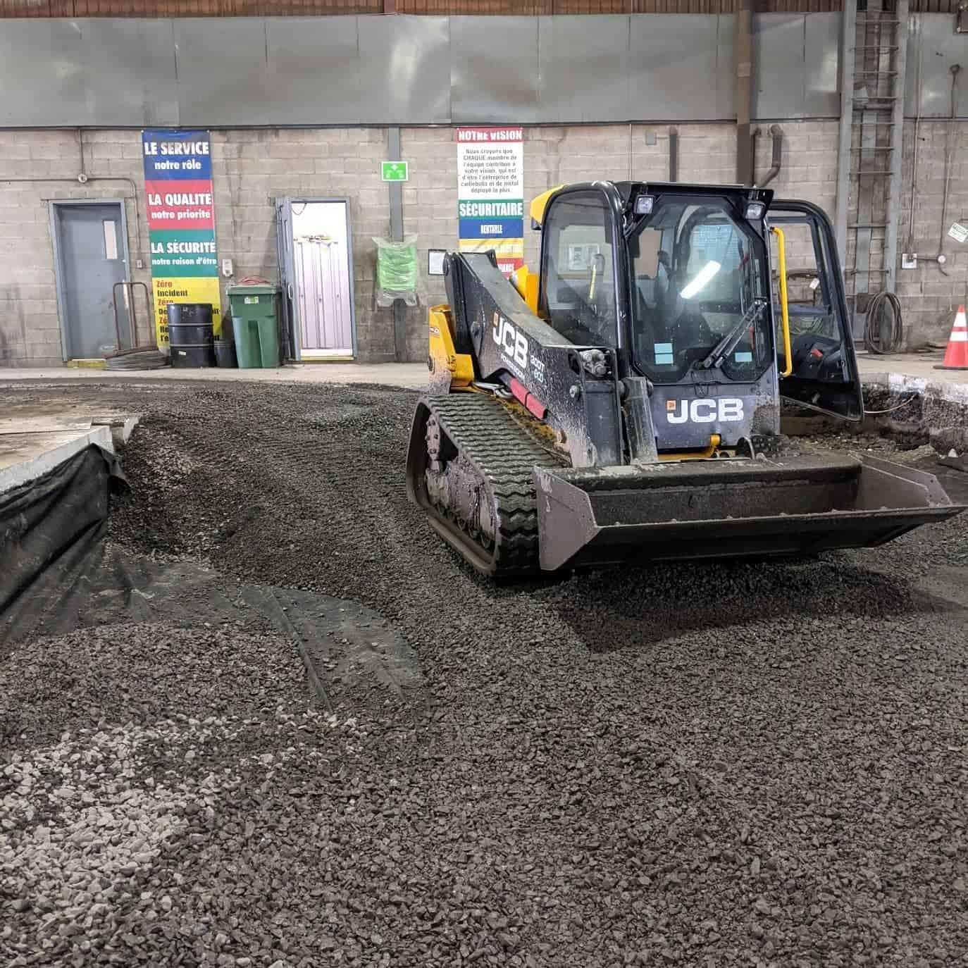 Montréal construction de dalle en béton pour machinerie