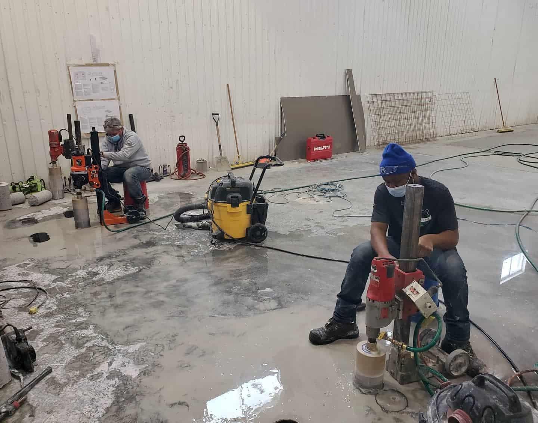forage de beton