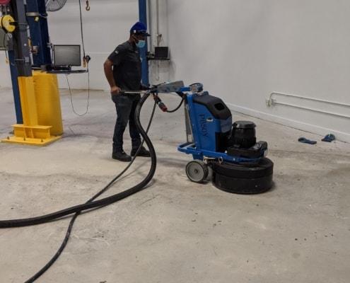 concrete slab grinding